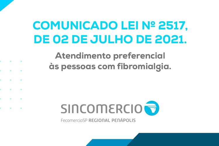 Notícia: COMUNICADO - LEI Nº 2517, DE 02 DE JULHO DE 2021